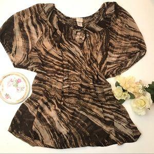 Covington Boho Short sleeve blouse 20-22W